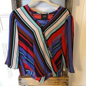 W5 Multicoloured Striped Blouse